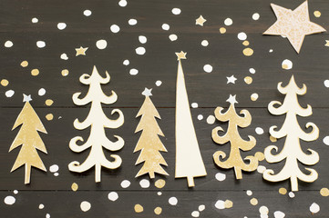 Christmas tree decoration made out of paper