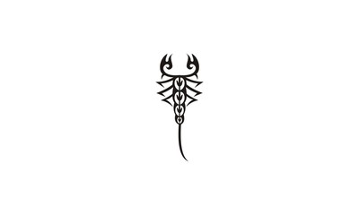 scorpion oriental tribal tatto design