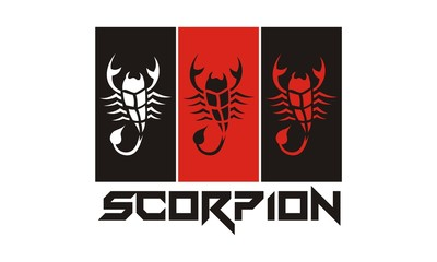 abstract scorpion logo design