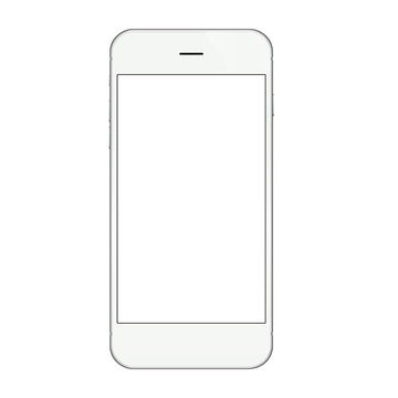 White phone isolated on white vector design
