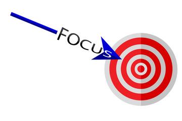 Illustration - Focus to Achieve Target