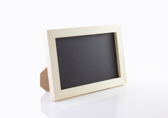 Blank picture frame with white background