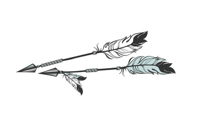 arrows with feathers
