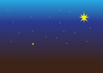 Ночное небо со звездами над пашней