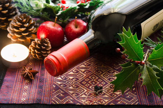 wine bottle for Christmas party