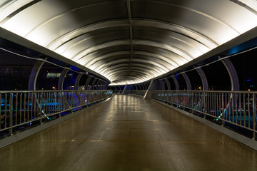 Walkway on the bridge.