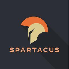Spartak Roman helmet logos icon vector qualitative trend flat