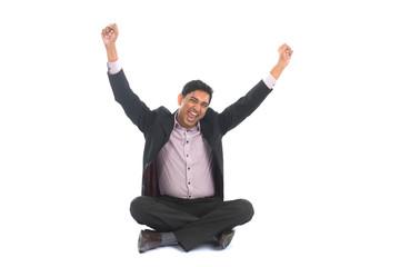 indian male celebrating success