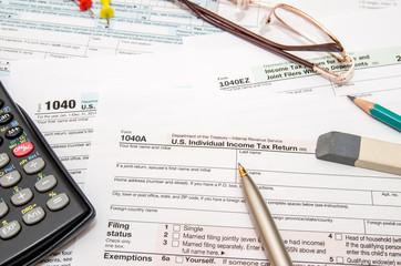 U.S. Individual Income Tax Return, form 1040