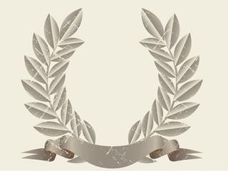 Retro laurel wreath