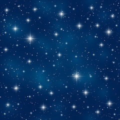 Seamless pattern with shiny stars
