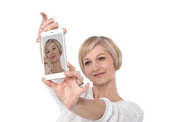 Happily taking Selfie in my new phone !