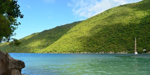 Caribbean beach in the Haiti