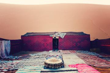 Bedouin nomad tent camp, Erg Chebbi, Morocco, Sahara, Morocco