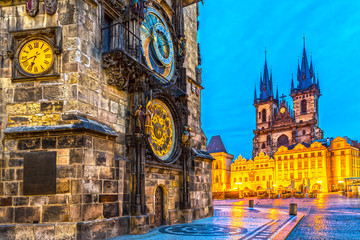 Wall Murals Prague Prague, Tyn Church and Old Town Square