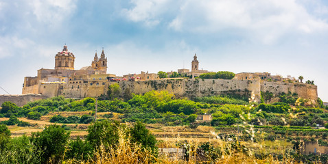 scenic view on Mdina Wall mural