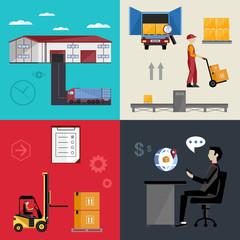 Warehousing and logistics processes.