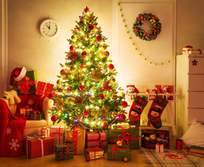 christmas tree at home interior