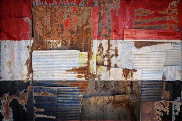 Corrugated Iron Egypt Flag