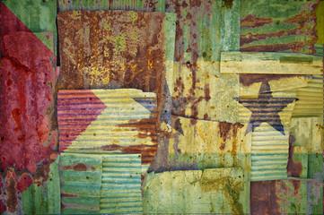 Corrugated Iron Sao Tome and Principe Flag