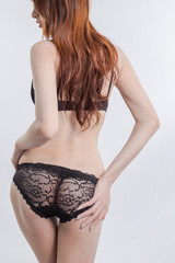 back of sexy Asian woman hip and underwear