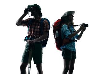 couple trekker trekking nature Photographing