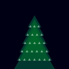various christmas tree - vector illustration