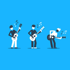 Jazz band performance. Bright attractive illustration for a cover or poster.