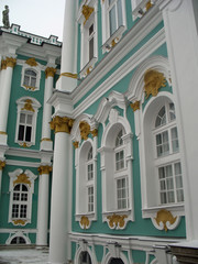 Saint-Pétersbourg, détail du palais de l'Ermitage, Russie