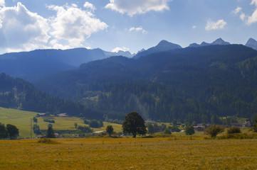 Paesaggio di montagna in autunno