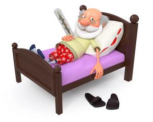 3d pensioner is ill