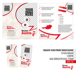 Brochure Design Template, Discover Austria.