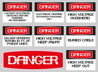 A set of poster on safety.