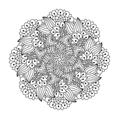 Round element for coloring book.