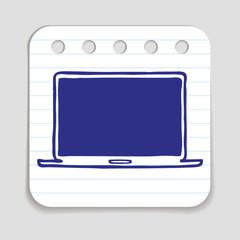 Doodle Laptop Icon