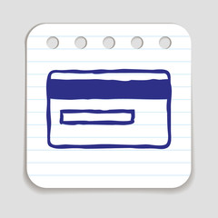 Doodle Credit Card icon.