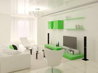 Interer modern bright living room.