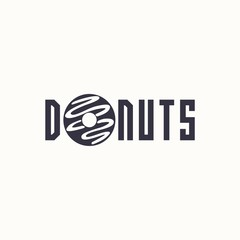 logo donut. Vector design logo. Logo for bakery shop. Vector illustration