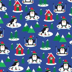 penguins ski scene