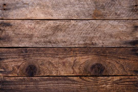 Weathered horizontal wooden planks background