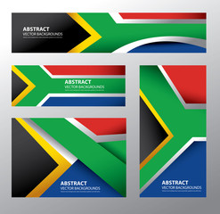 Abstract South Africa Flag, South African Colors (Vector Art)