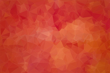 Red abstract background consisting of angular Wall mural