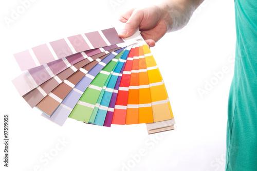 Mann pr sentiert eine farbkarten stockfotos und - Farbkarten kostenlos ...