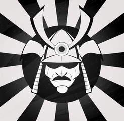 Vector samurai mask.