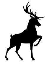 silhouette of the buck