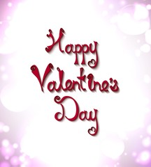 Text greetings on Valentine's Day. vector love background