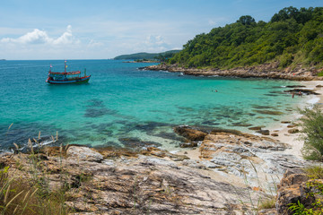 Rocky coast of Ko Samet island