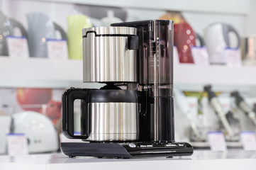 Metallic drip coffee maker