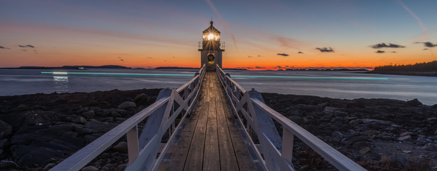 Marshall Point Lighthouse at sunset Wall mural