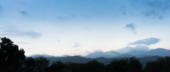 Mountain range against cloudy sky, Jamaica